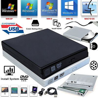 USB To SATA External Laptop PC DVD CD Rom RW Drive Caddy Case Cover Enclosure UK • 7.79£