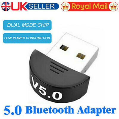 USB 5.0 Bluetooth Adapter Wireless Dongle High Speed For PC Windows Computer UK • 3.99£