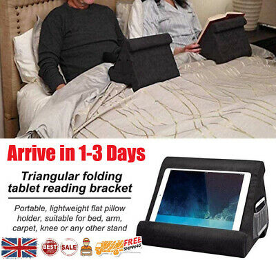 Multi-Angle Soft Tablet Pillow Lap Stand Holder W/ Net For IPad EReader Magazine • 7.98£