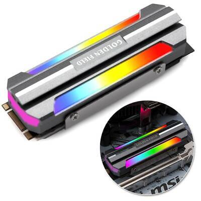 Pad M.2 2280 SSD Heatsink Cooler Solid State Color Light Disk Radiator For PC UK • 9.49£
