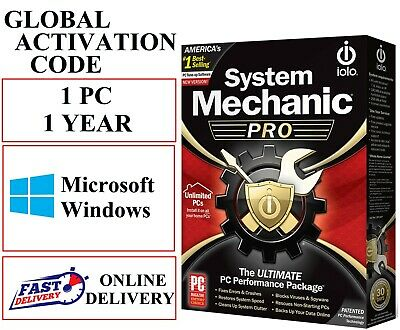 Iolo System Mechanic Pro 1 Year 1 Pc Global Activation Code (email Download) • 15.95£