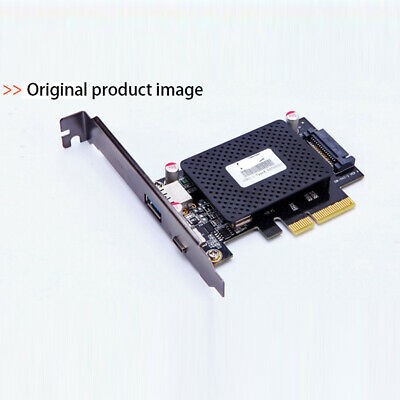 PCI-E PCI Express 4X To USB 3.1 Gen2 10Gbps 2-Port Type C Expansion Card Adapter • 19.76£