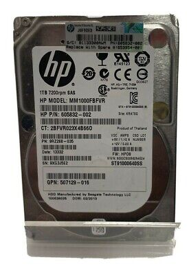 1 X HP 1TB 2.5  7200RPM SAS Hard Drive **** TESTED WORKING & DATA DESTROYED **** • 35£