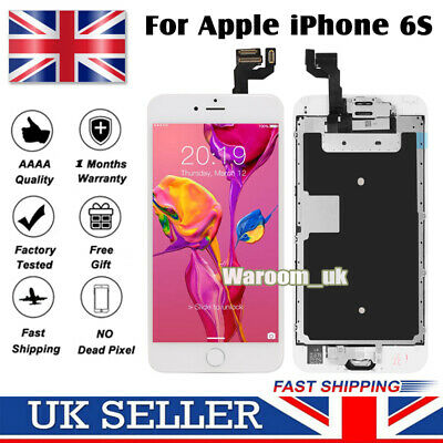 For IPhone 6S Screen Replacement Digitizer LCD Touch Home Button Display White • 15.49£