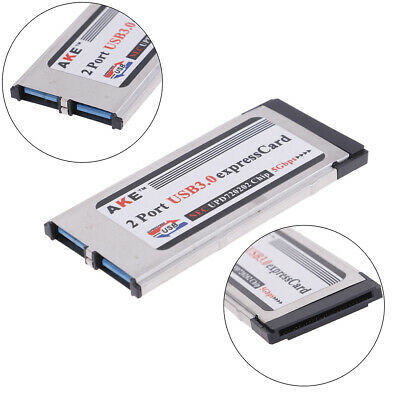 2 Ports USB 3.0 Express Card Expresscard 34mm/54mm Hidden Adapter For LaptopMHI • 7.76£