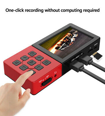 HDMI Video Capture Card 1080P 60fps Record Save To Micro SD Card,with 3.5''LCD • 95.99£
