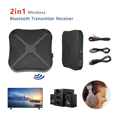 2 In 1 Bluetooth Wireless Audio Transmitter Receiver Adapter HiFi Music RCA AUX • 4.49£