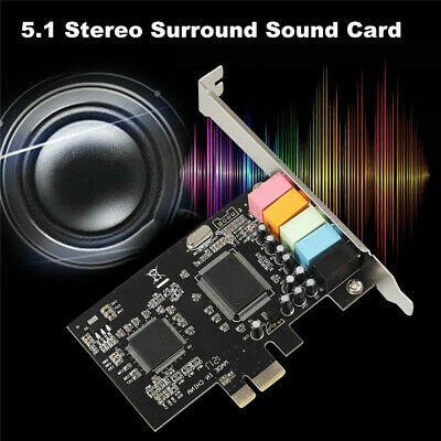 PCI Express PCI-E 5.1 Ch 6 Channel PCIE Audio Digital Sound Card Adapter Durable • 11.39£