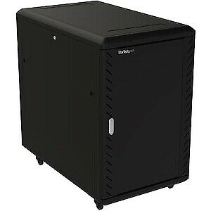 NEW! Startech 18U Server Rack Cabinet Includes Casters And Leveling Feet 32 In. • 571.75£