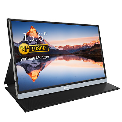 15.6'' IPS Portable Monitor 1080P FHD Game Screen Speakers For PC Phone Laptop • 159.90£