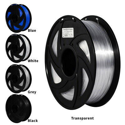 Xvico 3D Printer Filament 1.75mm 1KG PLA PETG Consumables Multicolor Black Clear • 17.99£