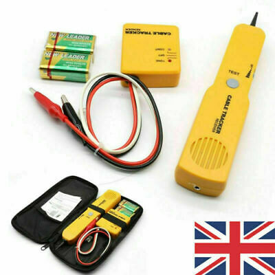 Cable Finder Tone Generator Probe Tracker Wire Network Tester Tracer Kit • 17.66£