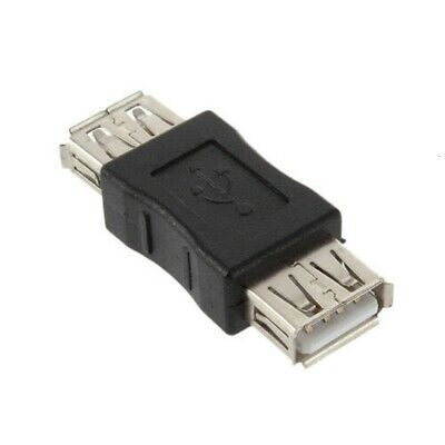 USB Coupler Gender Changer Converter Adaptor Type A Female To A F Joiner - BLACK • 1.79£