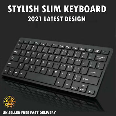 NEW Slim Wireless Bluetooth Keyboard For Apple IMac IPadAndroid Phone Tablet  UK • 9.99£