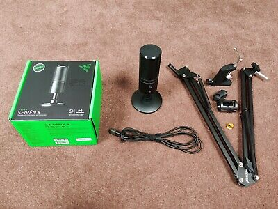 Razer Seiren X Microphone With Black Boom Arm • 36£