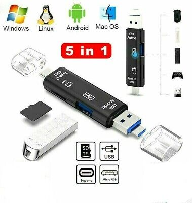 SD Card Reader For Android Phone Tablet PC Micro USB OTG To USB 2.0&3.0 Adapter  • 3.49£