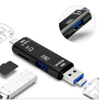 Card Reader USB 3.0 2.0 Type C SD Micro USB OTG To Adapter For Android Tablet UK • 3.59£