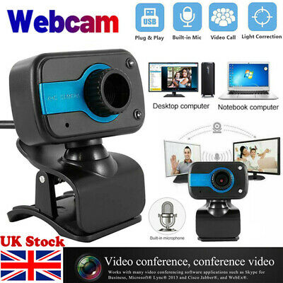 Full HD Webcam With Microphone HD Video Camera USB For PC Desktop Laptop Mic UK • 11.69£