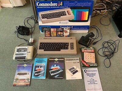 Commodore 64 Computer With Cassette And Games + Accessories [Not Tested] • 36£