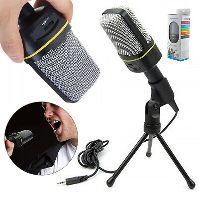 Microphone With Stand Tripod Audio Recording For Computer PC Mic Phone Desktop • 11.98£