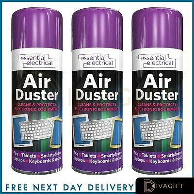 200ml Compressed Air Can Duster Spray Protects Cleaner Laptops Keyboards New • 5.49£