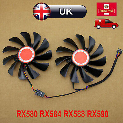 Durable Graphics Card Cooling Fan 95MM Cooler For XFX RX580 RX584 RX588 RX590 UK • 11.18£