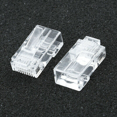 Cable Connector Plugs Adapter RJ45 EZ CAT6 Modular Networking Practical • 5.14£