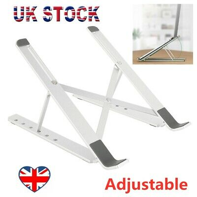 Laptop Stand Adjustable Tablet Holder Folding Portable Desktop Office Support UK • 9.19£