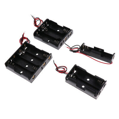 4x Battery Holder 4x Micro AAA Compartment Open Holder Black 61mmx57mmx15mm • 3.26£