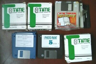 JOB LOT OF 1.44mb DISKETTE + PHOTO-PAINT SOFTWARE, OTHER DISKETTES TO REFORMAT • 15£