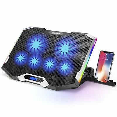 TopMate C11 Laptop Cooling Pad Silver Wing Cooler, RGB Lighting Laptop Cooler • 50.99£