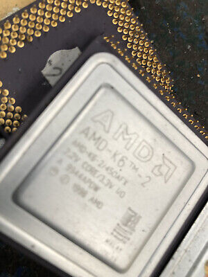 AMD K6 Ceramic CPUFor Gold Recovery No Reserve Please Computer Scrap See Photos • 0.99£