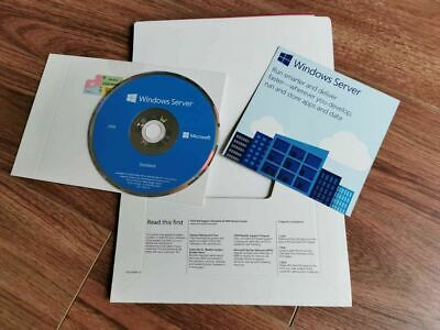 Genuine Microsoft Windows Server Standard 2016 64bit (DVD & COA) - 2 CPU 16 Core • 49£