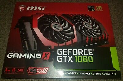 MSI GeForce GTX 1060 Gaming X 6GB GDDR5 Great Condition Twin Frozr VI DP*3 HDMI • 250£